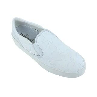 Valentino White Canvas Camustars Slip On Sneakers
