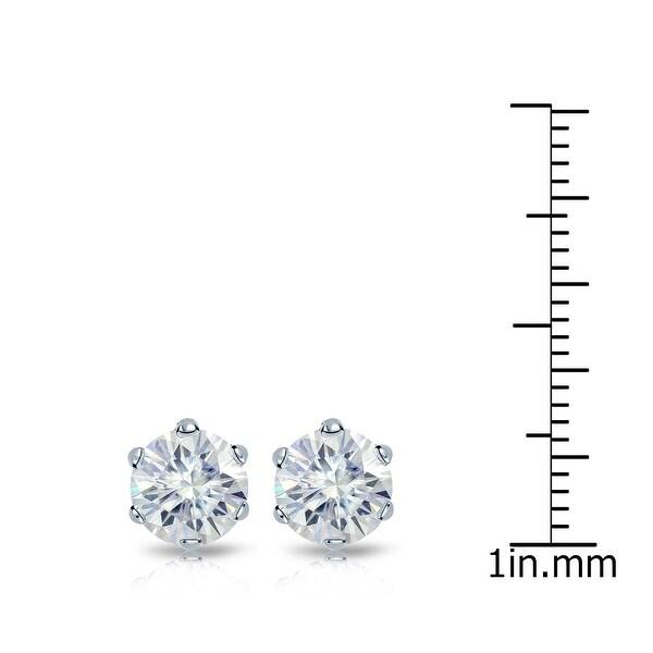 Auriya 2 1/2ctw Round Moissanite Stud Earrings 14k Gold - 7 mm