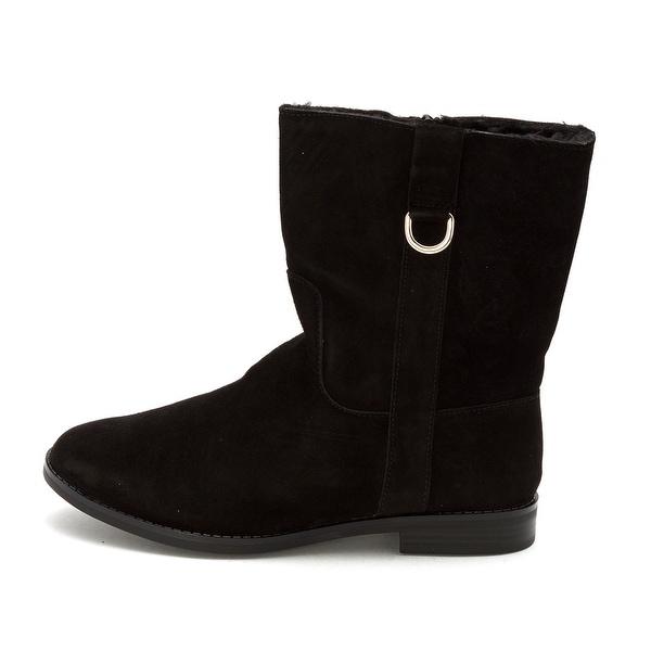 Alfani Womens Ancona Leather Closed Toe Mid-Calf Fashion Boots