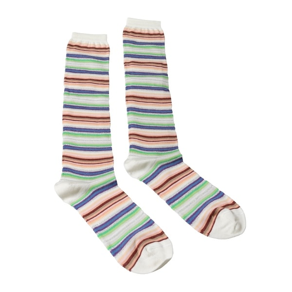 Missoni GM00CMD4938 0003 Cream/Green Knee Length Socks