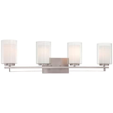 Parsons Studio Brushed Nickel 4 Light Bath Bar By Minka Lavery