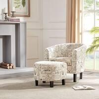 Shop Alenya Quartz Tan Script Print Accent Chair Free