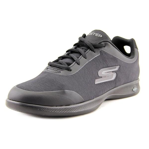 Skechers Go Step Lite Beam Women Round Toe Canvas Black Running Shoe