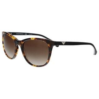 424410201a4 Shop Emporio Armani EA4086 567713 Blonde Havana Rectangle Sunglasses -  54-19-140 - Free Shipping Today - Overstock - 21335354