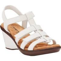 Walking Cradles Women's Laurel Wedge Sandal White Nappa
