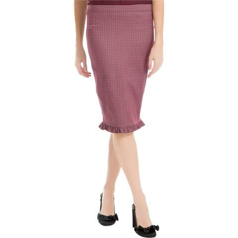 Max Studio London Womens Ruffled Hem Pencil Skirt