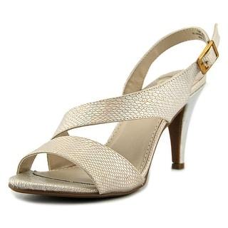 Madeline Jaded Women Open-Toe Leather Ivory Heels
