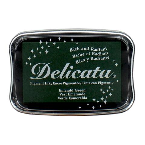 De-000-321 tsukineko delicata ink pad full emerald green