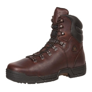 "Rocky Work Boots Mens 8"" Mobilite ST WP Oil Resistant Brown FQ0006115"