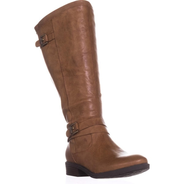 BareTraps Yalina2 Wide Calf Comfort Boots, Brush Brown