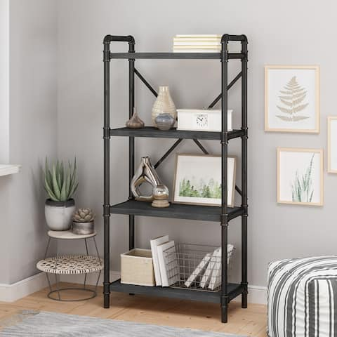 Greenwood Iron Bookcase by Christopher Knight Home