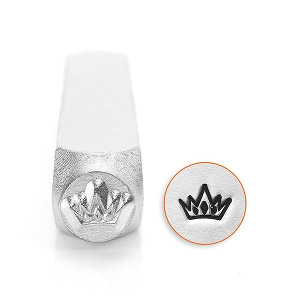 ImpressArt Metal Punch Stamp, Crown Design 6mm (1/4 Inch), 1 Piece, Steel