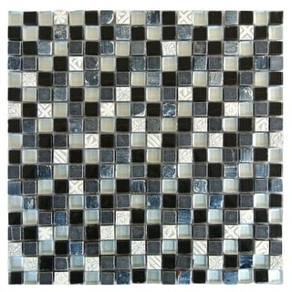 """Miseno MT-EARTH5/8SQ Earth - 5/8"""" X 5/8"""" - Glass Visual - Wall Tile (Sold by Sheet)"""