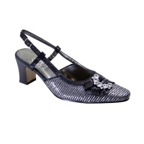 FLORAL Clea Women's Extra Wide Width Dress Slingback Metallic Shoes