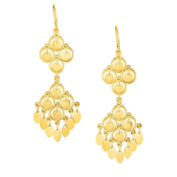 9b9f17f78 Shop Mcs Jewelry Inc 10 KARAT YELLOW GOLD DANGLING CHANDELIER EARRINGS (0.6  INCHES) - On Sale - Free Shipping Today - Overstock - 17767391