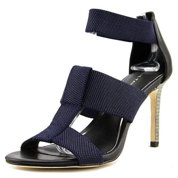 Elie Tahari Seneca Women Open Toe Leather Blue Sandals