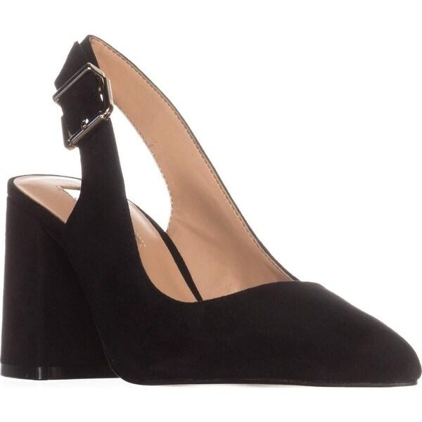 I35 Talool Sling-Back Dress Heels, Black Suede