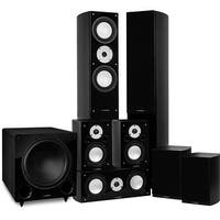 Fluance Reference Series Surround Sound Home Theater 7.1 Channel System - Black Ash (XL71BR)