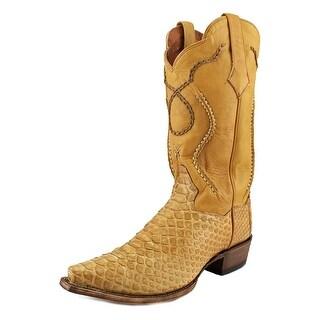 Dan Post DP3030 Men Pointed Toe Leather Tan Western Boot