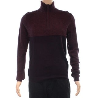 Calvin Klein NEW Red Mens Size Large L 1/2 Zip Longsleeve Sweater