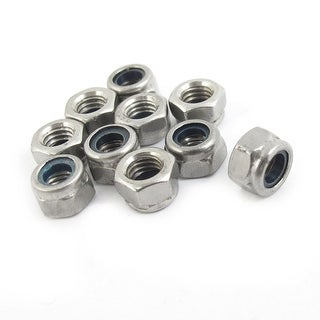 10 x RC Racing Touring Car Drift Wheel Lock Nuts 4mm M4 Silver Tone