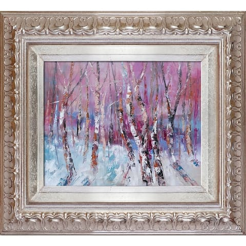 "ArtistBe Winter Magic 1 with Elegant Champagne Frame, 14"" x 16"""