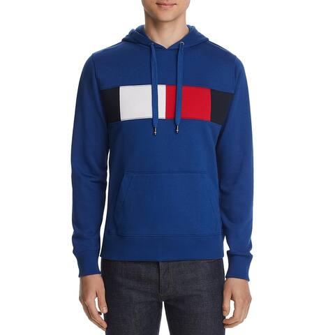 Tommy Hilfiger Mens Hooded Sweatshirt Printed Hooded - Blue - M