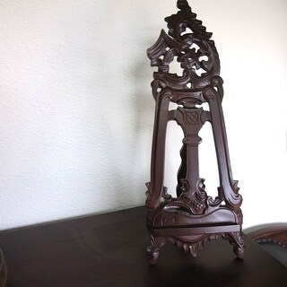 Offex Handmade Solid Mahogany Wood Victorian Style Mini Table Easel