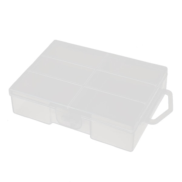 94mmx68mmx25mm Transparent Storage Case Hard Plastic Battery Holder Organizer
