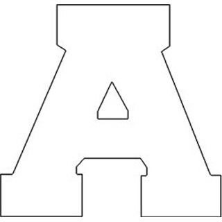 """White - Iron-On Letters 1.5"""" Athletic"""