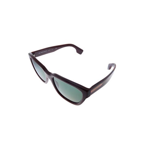 Burberry BE 4277 37603H 54mm Womens Burgundy Frame Green Lens Sunglasses