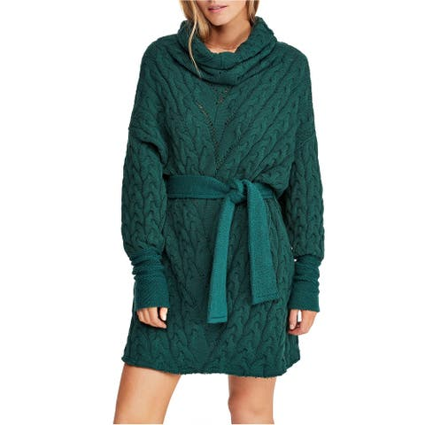 Free People Womens Cable Knit Sweater Dress