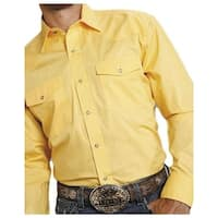 Roper Western Shirt Mens L/S Snap Solid Yellow