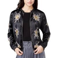 Endless Rose Womens Bomber Jacket Fall Embellished