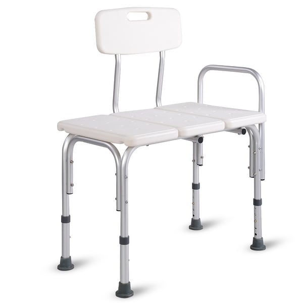 Costway Shower Bath Seat Medical Adjustable Bathroom Bath Tub Transfer Bench Stool Chair  sc 1 st  Overstock.com : tub transfer chair - Cheerinfomania.Com