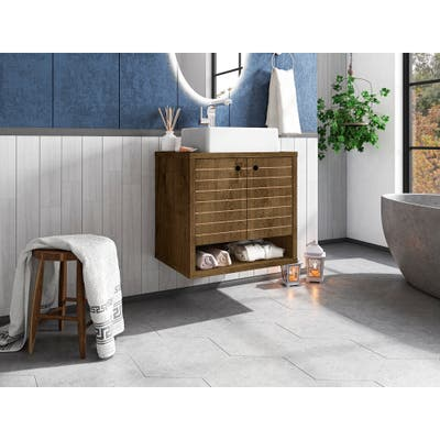 Liberty Floating 23.62 Bathroom Vanity with Sink and 2 Shelves