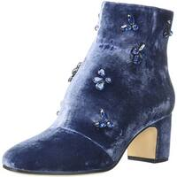Anne Klein Womens Glinda Velvet Fashion Boot