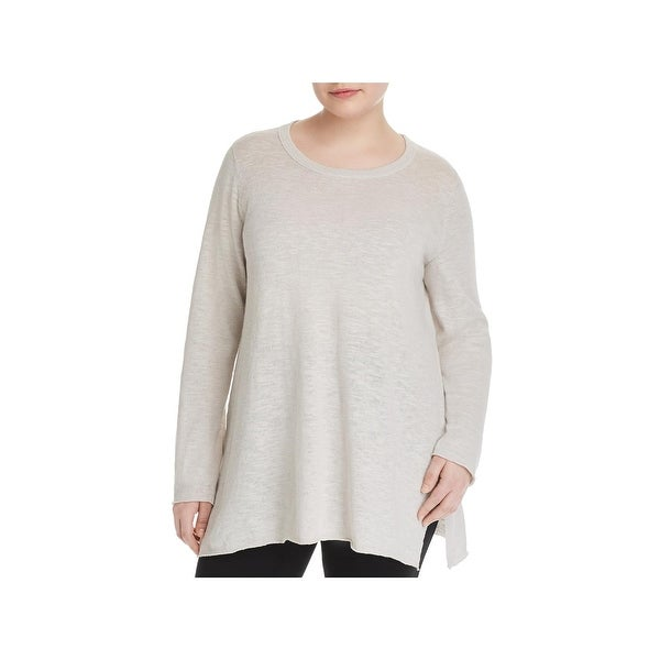 1f48c80387 Shop Eileen Fisher Womens Plus Tunic Sweater High-Low Step Hem ...