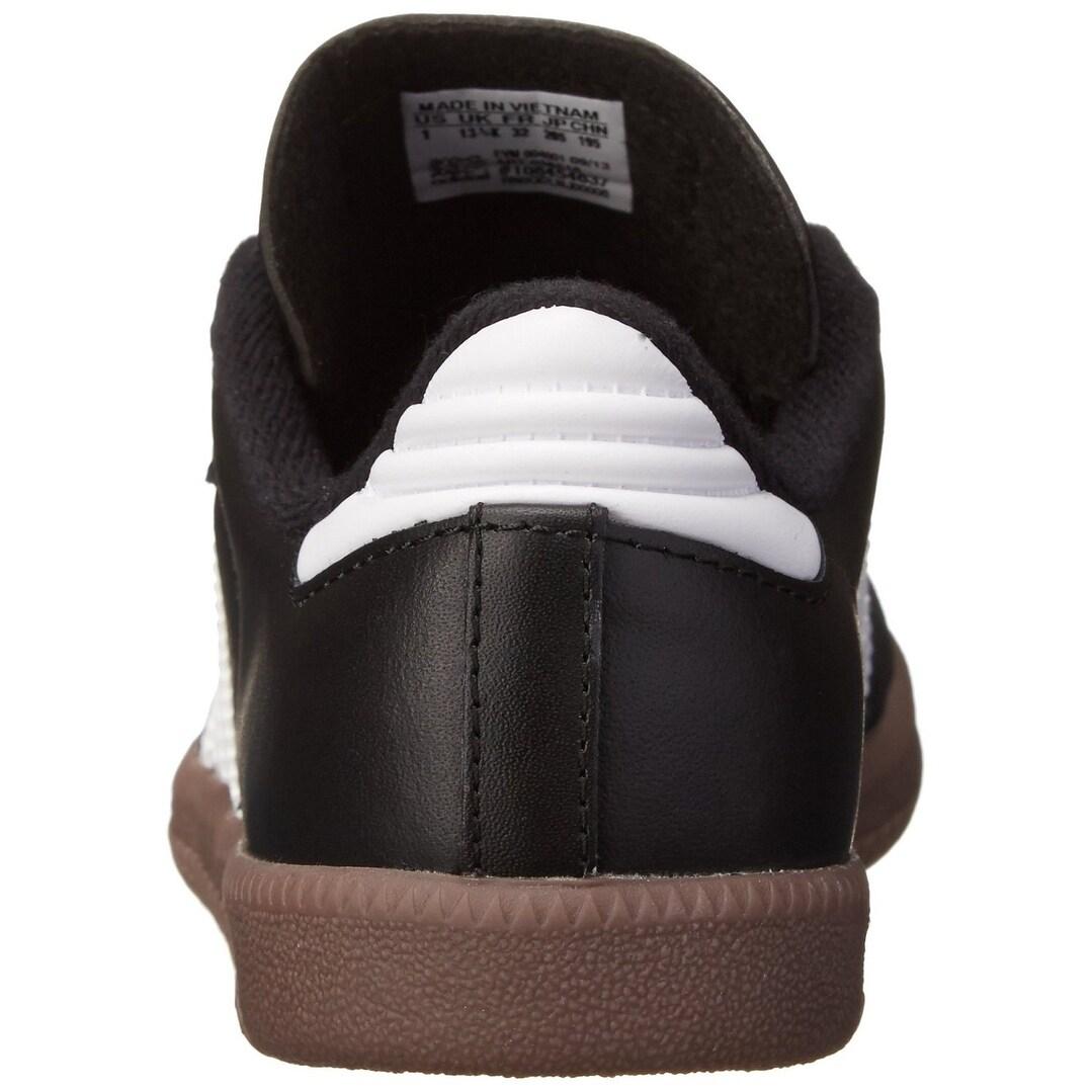 Norteamérica Culo Orientar  Adidas Samba Classic Leather Soccer Shoe (Toddler/Little Kid/Big Kid),Black/Running  White,5 M Us Big Kid - 5 M US Big Kid - Overstock - 17871280