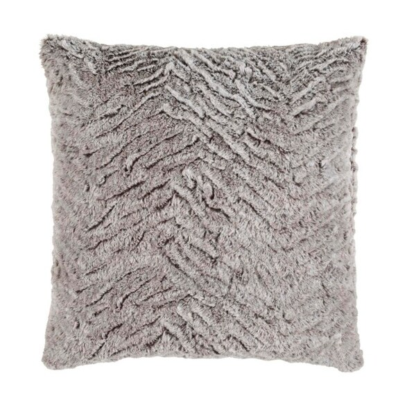 "20"" Mouse Gray and Flour White Woven Decorative Throw Pillow-Down Filler"