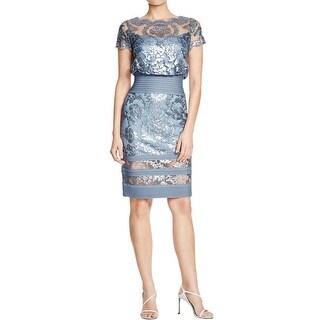 Tadashi Shoji Womens Cocktail Dress Sequined Knee-Length