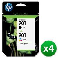 HP 901 Black & Tri-Color DesignJet Printhead-2 Cartridges (CN069FN)(4-Pack)