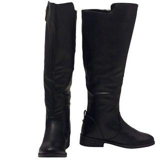 Weeboo Adult Black Side Zipper Closure Tall Hi-Low Trendy Boots