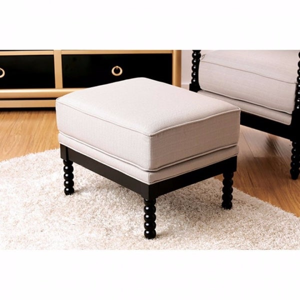 Awe Inspiring Sybil Contemporary Ottoman Beige Caraccident5 Cool Chair Designs And Ideas Caraccident5Info