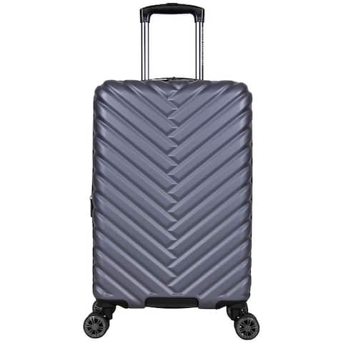 "Kenneth Cole Reaction 'Madison Square' 20"" Chevron Hardside Expandable 8-Wheel Spinner Carry On Suitcase - Multiple Colors"