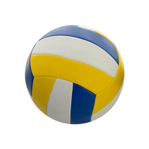 Kole Imports 8.5 in. Yellow & Blue Volleyball, Size 5 - Pack of 4