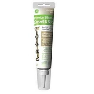 GE GE283 Silicone-II Premium Silicone Glue/Seal/Gasket, 2.8 Oz, Black