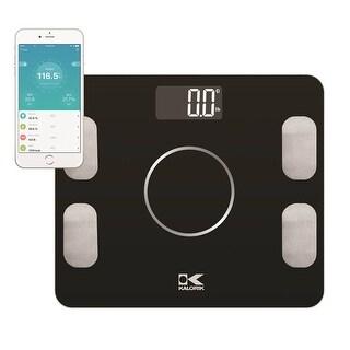 Kalorik Bluetooth Black Electronic Body Fat Scale with Body analysis