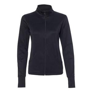 Women's Poly-Tech Full-Zip Track Jacket - Black - L