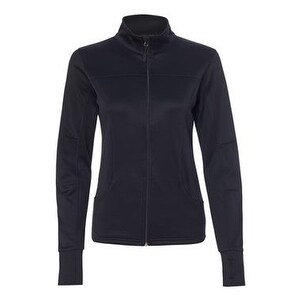 Women's Poly-Tech Full-Zip Track Jacket - Black - M